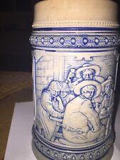 1 litre 1950 Vintage German beer stein tankard by Gerz of Germany.