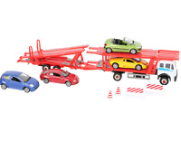 WELLY Boys Kids Car Transporter With Metal Model Cars 10 Parts Legler 5 Years+