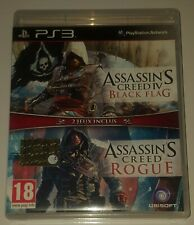 🎮 Assassin's Creed  IV Black Flag & Rogue x Console Sony Ps3 🎮