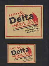 Ancienne   étiquette allumette Suède BN4382 Delta