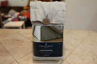 """Fieldcrest Solid Cashmere Gray Linen Bed Skirt - 15"""" Linen Drop - King"""