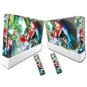 MARIO KART Nintendo Wii Vinyl Skin STICKER Protector for Console & Controllers