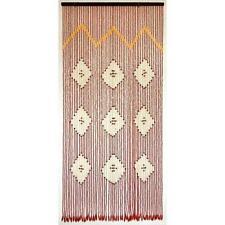 Cortina puerta 56 tiras madera 90x200 cm. de Saturnia.