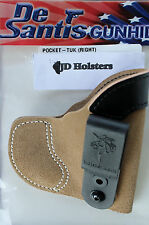DeSantis Pocket Tuk IWB or Pocket Holster Sig P230 P232 Tan Suede Right Hand