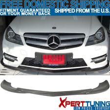 12-14 Benz C-class W204 LCI Godhand Carbon Fiber CF Front Bumper Lip Spoiler