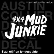 "6.5"" 4X4 MUD JUNKIE vinyl decal car window laptop sticker - off road"