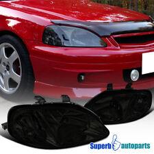 For 1999-2000 Honda Civic Headlights Head Lamps Smoke Lamps