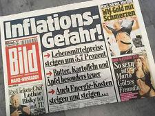 Bildzeitung vom 14.08.2013 * Geschenk zur Geburt * Inflation