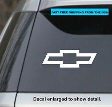 """4x- Chevy Logo 4""""  White Vinyl Decal Sticker Car Truck"""