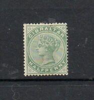 GIBRALTAR 1887 SG 8 - 1/2d DULL GREEN - MOUNTED MINT - CAT £19