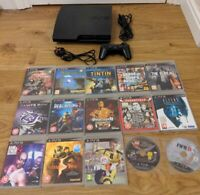 Sony PlayStation 3 PS3 320GB Slim Console & 15 Games Bundle - Free P&P