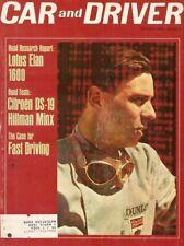 CAR & DRIVER 1964 FEB - JIM CLARK, ISKENDERIAN, ELAN, DS-19, 904