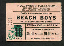 1973 Beach Boys Mason Profit Jesse Collin Young Concert Ticket Stub Hollywood CA