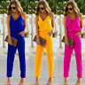 Women's Sexy Strap Slim Sleeveless Bodycon Jumpsuit Romper Trousers Clubwear New
