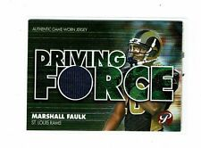 2002 Topps Pristine Driving Force Marshall Faulk Game Jersey Card RAMS