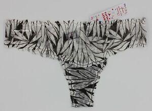 """NWT COSABELLA TREAP0323 """"Sweet Treats"""" Printed Lace Thong Gray / Brown Italy O/S"""