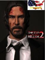 1/6 john wick head 3.0 battle version Keanu Reeves for hot toys COOMODEL ❶USA❶