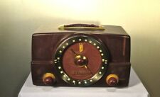Antique Zenith vintage bakelite tube radio restored and  working
