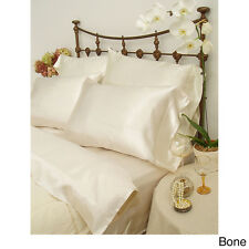 NEW SEXY PAIR OF CREAM SHINY SILKY SOFT SATIN PILLOWCASES - STANDARD PILLOWS