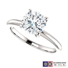 1.00 Carat J SI3 Good Cut Genuine Diamond Solitaire Ring in 14k Gold