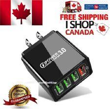 4 Port Fast Quick Charge QC3.0 USB Hub Wall Charger Power Adapter US EU Plug