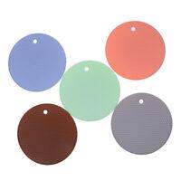 1PC Round Heat Resistant Silicone Coasters Non-slip Pot Holder Table PlacematBB