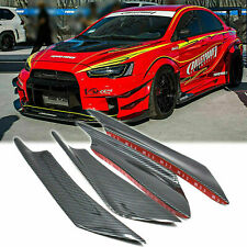 Jdm Carbon Fiber Front Bumper Canard Splitter Lip for Mitsubishi Lancer Evo X 10 (Fits: Mitsubishi)