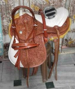 "Brazilian leather saddle 17"" on eco leather buffalo on color chusnet"
