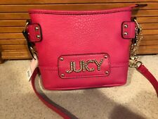 Juicy Couture Wild Card Crossbody Watermelon Pink Gold Chain Purse Bag