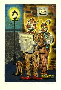 George Crionas-The Gents-Limited Edition Lithograph/Paper/Hand Signed/AP Num/LOA