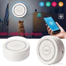 Smart Wireless WiFi Siren Alarm Sensor Home Security System 120dB Sound USB US