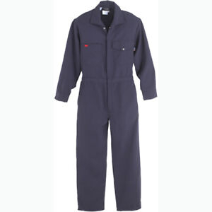 Workrite Flame-Resistant 4.5 oz Lightweight Nomex IIIA Industrial Coverall Navy