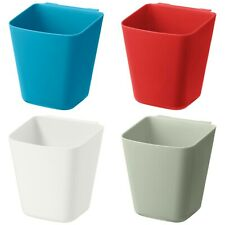 5 X SUNNERSTA Multicoloured Container Pots Rail OR Mounted to the Wall / Storage