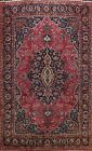 Floral Semi Antique Kashmar Area Rug Wool Hand-knotted Traditional Carpet 10x13
