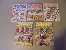 LOT OF 5 2013,14,15,MOTOCROSS ACTION MAGAZINE,ALL SHOOTOUT ISSUES,250/450S,HONDA