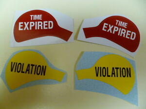 Duncan Parking Meter Sticker/Decal Time Expired/ Violation