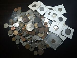 1800s-1900s 2 Pounds of Foreign Coins Unsorted #10