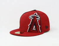 New Era 59Fifty Hat Mens MLB Los Angeles Angels Of Anaheim Red Tribu Fitted Cap