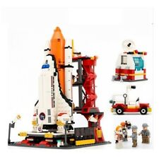 HOT !! City Spaceport Space Shuttle Launch Center Building Block Educational Toy