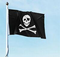 PIRATE FLAG 3 X 5 FEET SKULL AND CROSSBONES CROSS SWORDS JOLLY ROGER FAST SHIP!