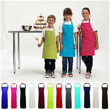 Childrens Apron Kids Plain Apron Kitchen Cooking Baking Child Craft Free PnP