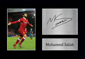 Mo Mohamed Salah Signed A4 A3 Framed Printed Autograph Liverpool LFC Print Gift