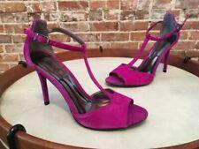 Carlos Santana Dream Magenta Pink Suede T-Strap Sandal 7.5 NEW