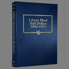 Whitman US Barber / Liberty Half Dollar Coin Album 1892 - 1915 #9124