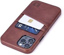 iPhone 12 Pro Wallet Case Cards Holder PU Leather Bumper Magnetic Cover Brown