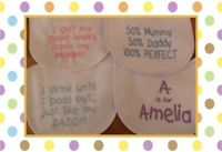 Personalised newborn baby gift  baby bib embroidered  4 choices any colour/name