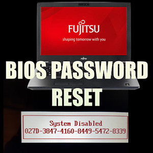 Fujitsu LifeBook Series 6x4 Hex BIOS  Reset or Unlock