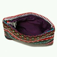 Women Cosmetic Bag Cosmetic Case Polyester Striped Zipper Makeup