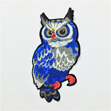 1Pc Embroidery Sequined Applique/Patch Motif Sew On Owl Bird Animal 2017