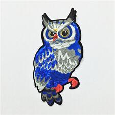 1Pc Stickerei Sequined Applique / Patch Motiv Nähen Auf Eule Vogel Tier